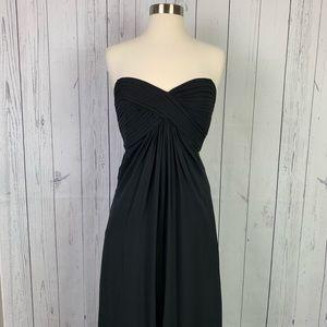 Tadashi | strapless black evening dress